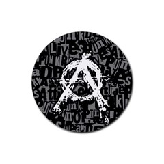 Anarchy Drink Coaster (round) by ArtistRoseanneJones