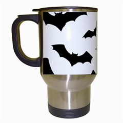 Deathrock Bats Travel Mug (white) by ArtistRoseanneJones