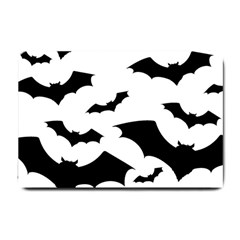 Deathrock Bats Small Door Mat by ArtistRoseanneJones