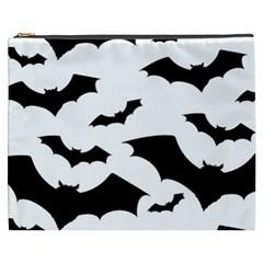 Deathrock Bats Cosmetic Bag (xxxl) by ArtistRoseanneJones