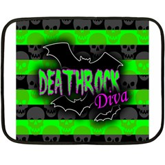 Deathrock Diva Mini Fleece Blanket (two Sided) by ArtistRoseanneJones