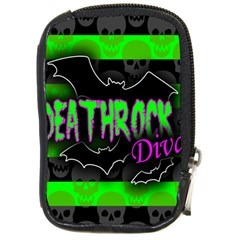 Deathrock Diva Compact Camera Leather Case by ArtistRoseanneJones