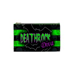 Deathrock Diva Cosmetic Bag (small) by ArtistRoseanneJones
