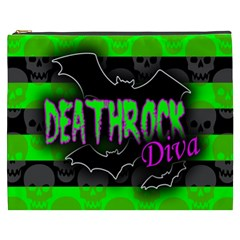 Deathrock Diva Cosmetic Bag (xxxl) by ArtistRoseanneJones
