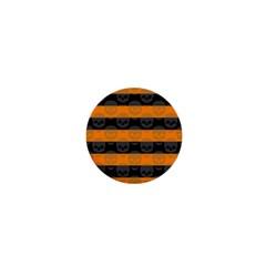 Deathrock Stripes 1  Mini Button Magnet