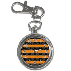 Deathrock Stripes Key Chain Watch by ArtistRoseanneJones
