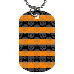 Deathrock Stripes Dog Tag (One Sided) by ArtistRoseanneJones