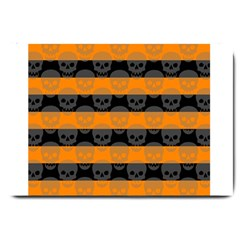 Deathrock Stripes Large Door Mat by ArtistRoseanneJones
