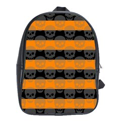 Deathrock Stripes School Bag (large) by ArtistRoseanneJones