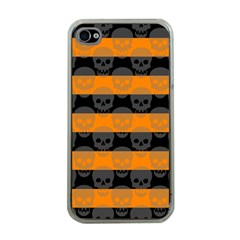 Deathrock Stripes Apple Iphone 4 Case (clear) by ArtistRoseanneJones