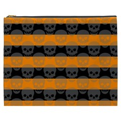 Deathrock Stripes Cosmetic Bag (xxxl) by ArtistRoseanneJones