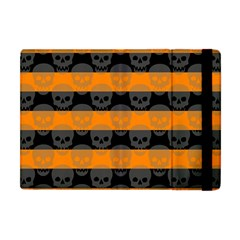 Deathrock Stripes Apple iPad Mini Flip Case by ArtistRoseanneJones