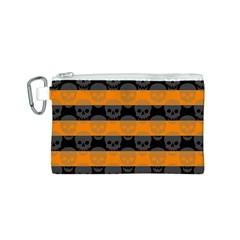 Deathrock Stripes Canvas Cosmetic Bag (Small)