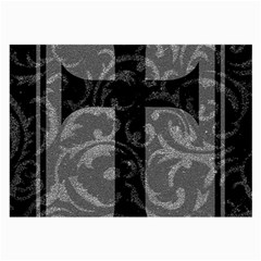 Goth Brocade Cross Glasses Cloth (large, Two Sided) by ArtistRoseanneJones