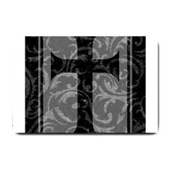 Goth Brocade Cross Small Door Mat by ArtistRoseanneJones