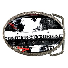 Punk Chick Belt Buckle (oval) by ArtistRoseanneJones