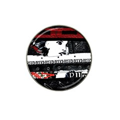 Punk Chick Golf Ball Marker (for Hat Clip) by ArtistRoseanneJones