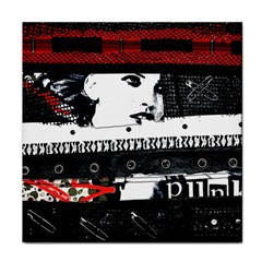Punk Chick Face Towel by ArtistRoseanneJones