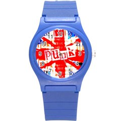 Punk Union Jack Plastic Sport Watch (small) by ArtistRoseanneJones