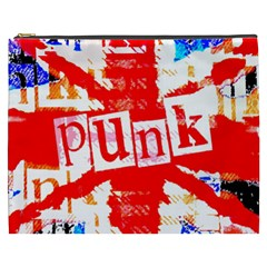 Punk Union Jack Cosmetic Bag (xxxl) by ArtistRoseanneJones