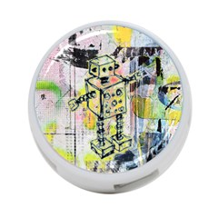 Graffiti Graphic Robot 4 Port Usb Hub (two Sides) by ArtistRoseanneJones