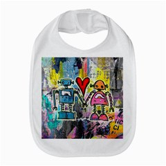 Graffiti Pop Robot Love Bib by ArtistRoseanneJones