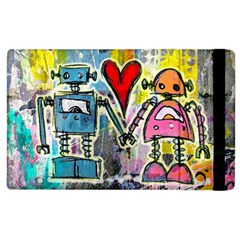 Graffiti Pop Robot Love Apple Ipad 3/4 Flip Case by ArtistRoseanneJones