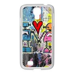 Graffiti Pop Robot Love Samsung Galaxy S4 I9500/ I9505 Case (white) by ArtistRoseanneJones