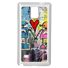 Graffiti Pop Robot Love Samsung Galaxy Note 4 Case (White)