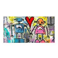 Graffiti Pop Robot Love Satin Wrap