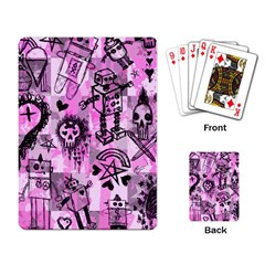 Pink Scene Kid Sketches Playing Cards Single Design by ArtistRoseanneJones