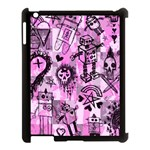 Pink Scene Kid Sketches Apple iPad 3/4 Case (Black) Front
