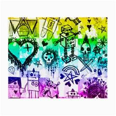 Rainbow Scene Kid Sketches Glasses Cloth (small) by ArtistRoseanneJones