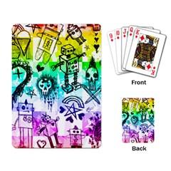 Rainbow Scene Kid Sketches Playing Cards Single Design by ArtistRoseanneJones