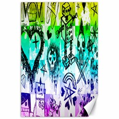 Rainbow Scene Kid Sketches Canvas 24  X 36  (unframed) by ArtistRoseanneJones