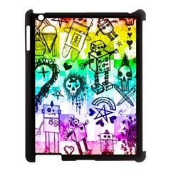 Rainbow Scene Kid Sketches Apple Ipad 3/4 Case (black) by ArtistRoseanneJones