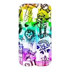 Rainbow Scene Kid Sketches Samsung Galaxy S4 I9500/i9505 Hardshell Case by ArtistRoseanneJones