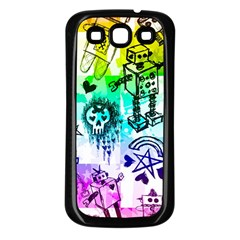 Rainbow Scene Kid Sketches Samsung Galaxy S3 Back Case (black) by ArtistRoseanneJones