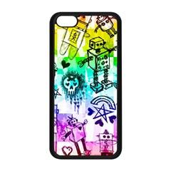 Rainbow Scene Kid Sketches Apple Iphone 5c Seamless Case (black) by ArtistRoseanneJones