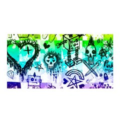Rainbow Scene Kid Sketches Satin Wrap