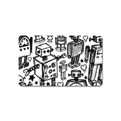 Robot Crowd Magnet (name Card) by ArtistRoseanneJones