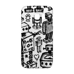 Robot Crowd Samsung Galaxy S6 Edge Hardshell Case by ArtistRoseanneJones
