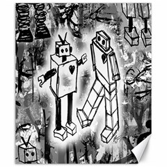 Robot Love Canvas 20  X 24  (unframed) by ArtistRoseanneJones