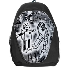 Robot Love Backpack Bag by ArtistRoseanneJones