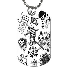 Scene Kid Sketches Dog Tag (two Sided)  by ArtistRoseanneJones