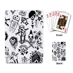 Scene Kid Sketches Playing Cards Single Design by ArtistRoseanneJones