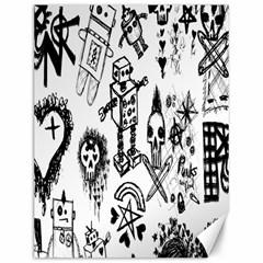 Scene Kid Sketches Canvas 12  X 16  (unframed) by ArtistRoseanneJones