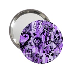 Purple Scene Kid Sketches Handbag Mirror (2 25 ) by ArtistRoseanneJones