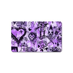 Purple Scene Kid Sketches Magnet (name Card) by ArtistRoseanneJones