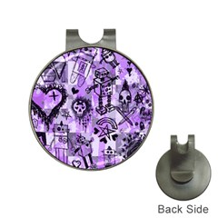 Purple Scene Kid Sketches Hat Clip With Golf Ball Marker by ArtistRoseanneJones